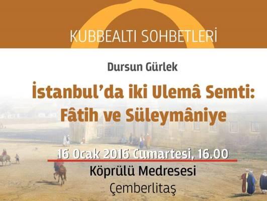 İki ulemâ semti: Fatih ve Süleymaniye