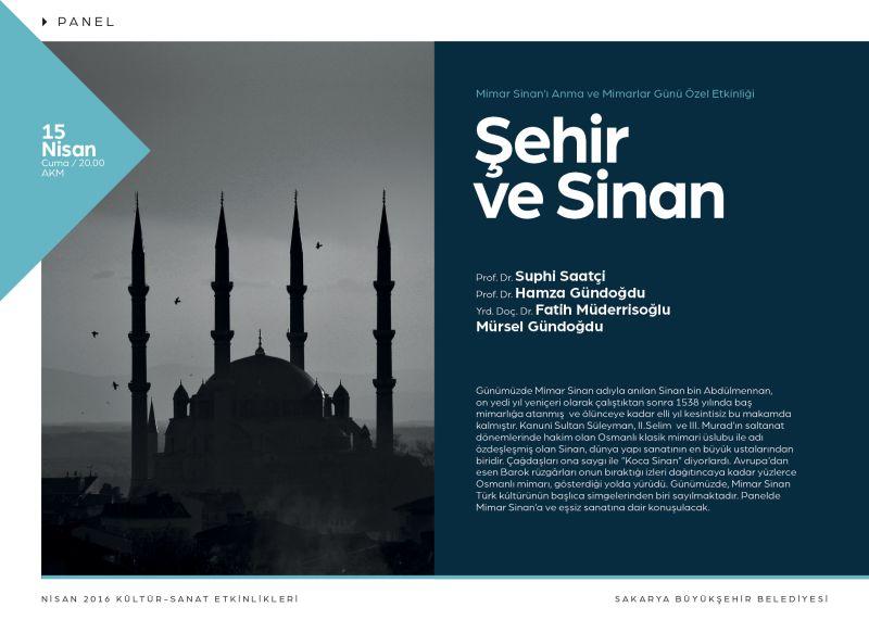Mimar Sinan Sakarya'da anılacak