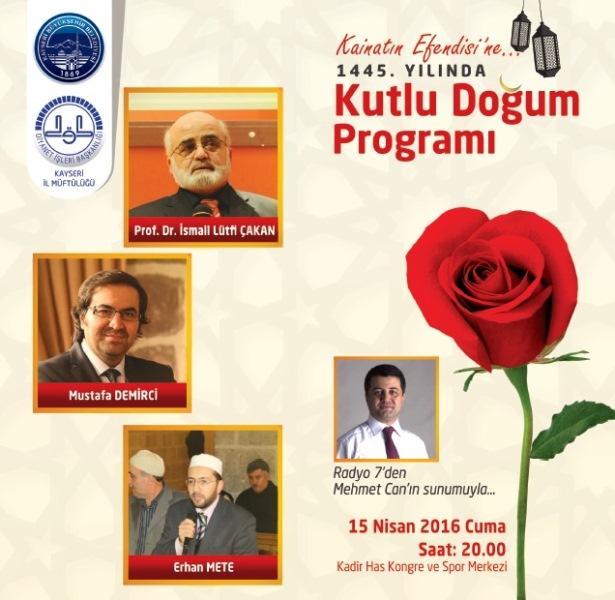 Kayseri'de Kutlu Doğum Programı