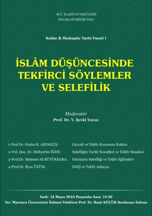 İslam Düşüncesinde Tekfirci Söylemler ve Selefilik