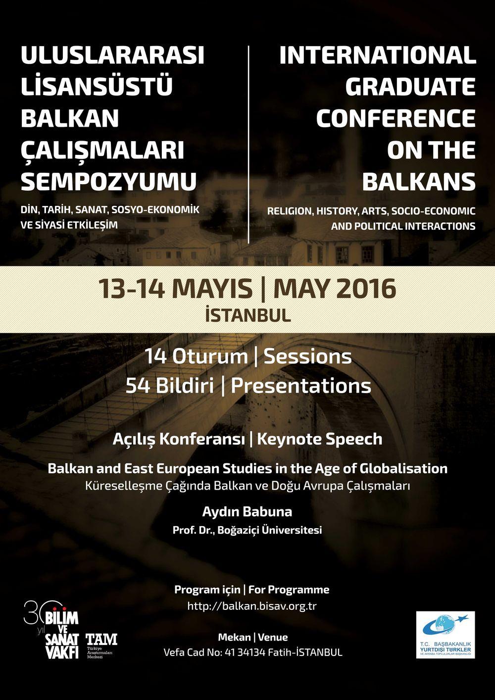 Uluslararası Lisansüstü Balkan Çalışmaları Sempozyumu