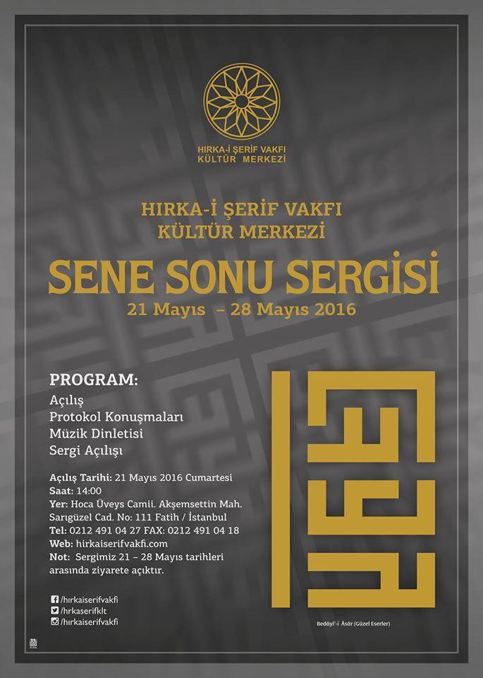 Hırka-i Şerif Vakfı Kültür Merkezi'nden sene sonu sergisi
