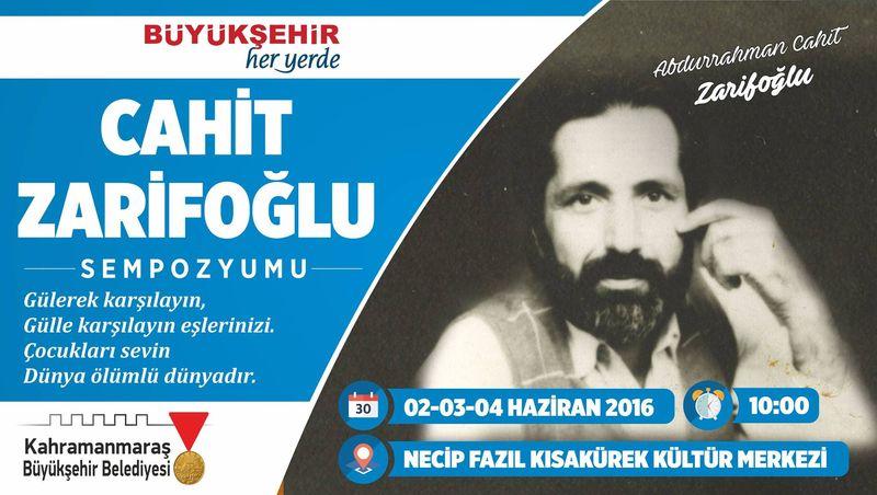 Maraş'ta Cahit Zarifoğlu Sempozyumu