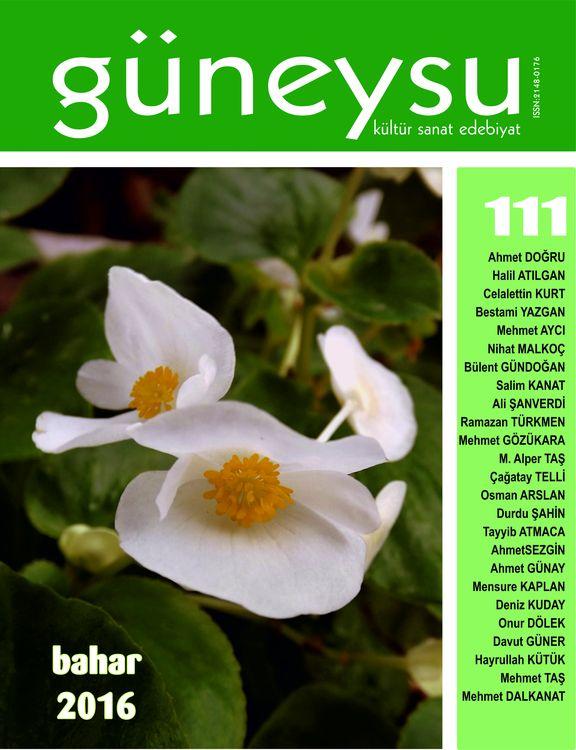 Güneysu dergisinin 111. sayısı çıktı