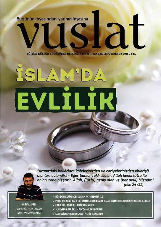 Vuslat dergisinin 181. sayısı çıktı