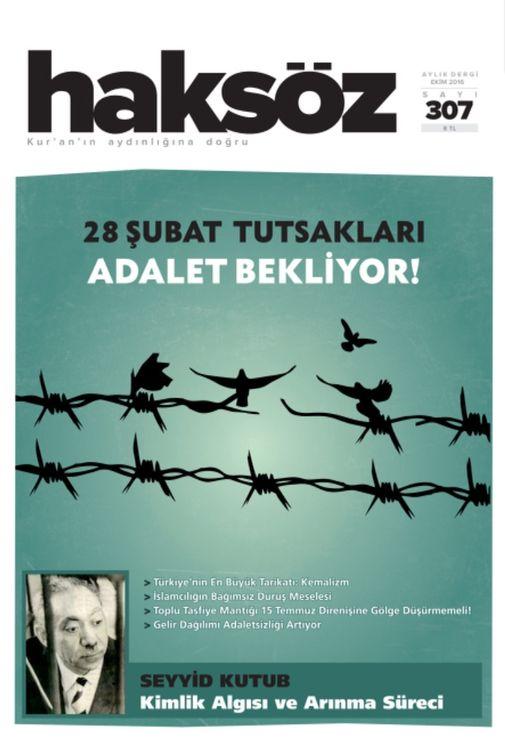 Haksöz dergisinin 307. sayısı çıktı
