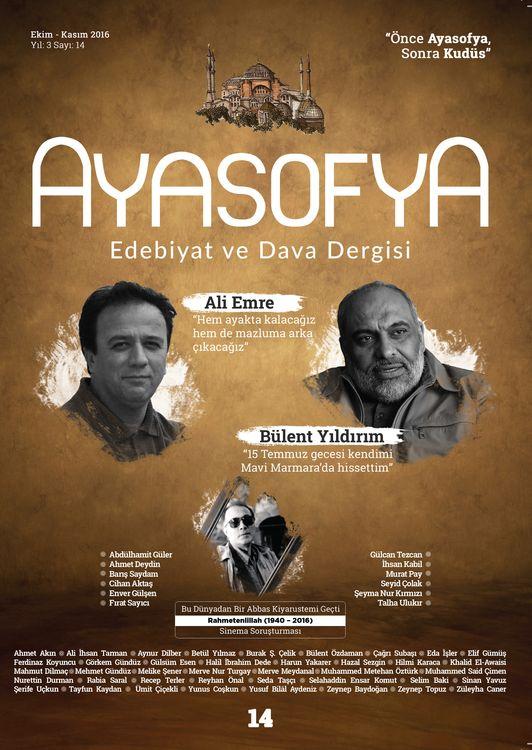 Ayasofya dergisinin 14. sayısı çıktı