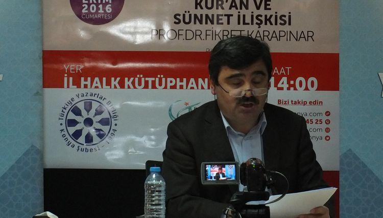 Konya'da 'Kur'an ve Sünnet İlişkisi' üzerine konuşuldu