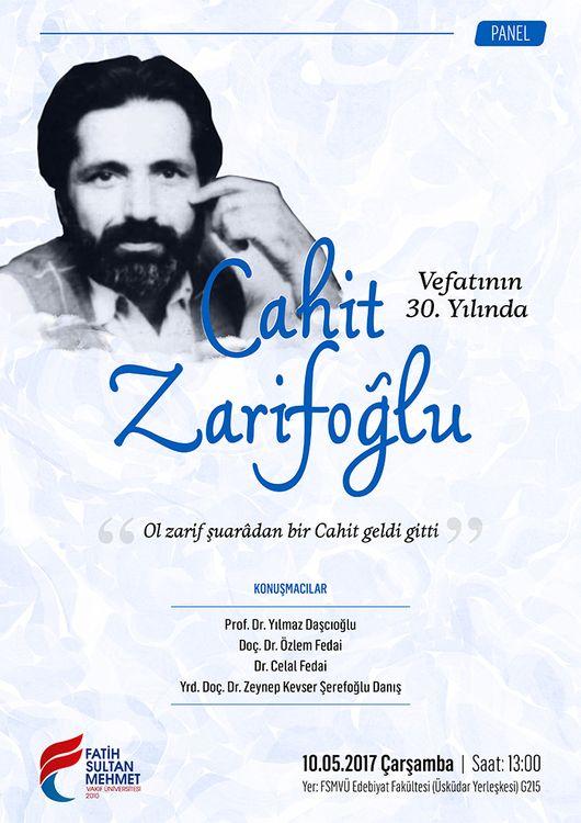 Cahit Zarifoğlu anılacak