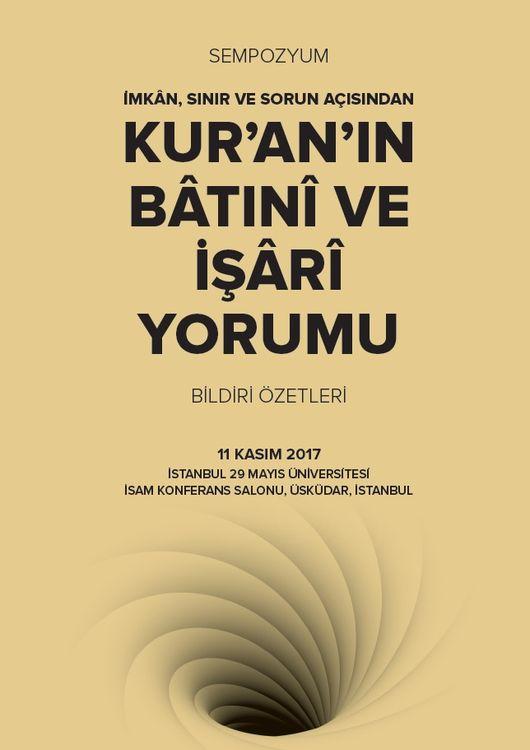 Kur'an'ın Bâtınî ve İşârî Yorumu sempozyumu