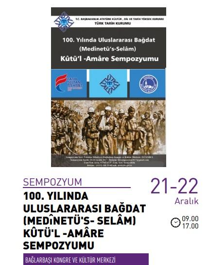 Uluslararası Bağdat Kûtü'l -Amâre Sempozyumu