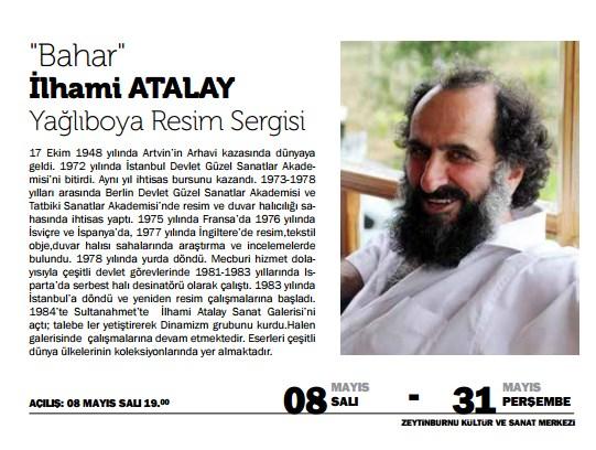 İlhami Atalay'dan 'Bahar' Yağlı Boya Sergisi