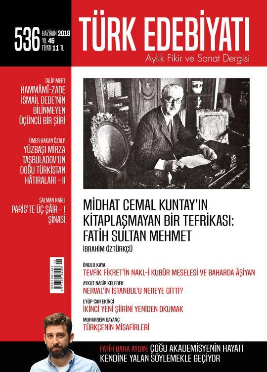 Türk Edebiyatı Dergisinin 536. Sayısı Çıktı