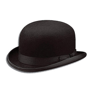 Klasik İngiliz Bowler şapkası