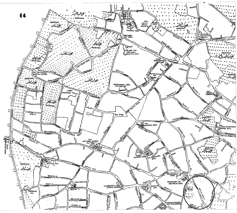 E. Hakkı Ayverdi'nin yayınladığı 1870'li yıllarda İstanbul haritası