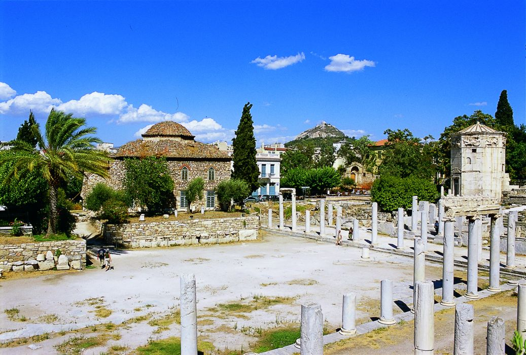 Roma Agorası (Fethiye Camii-Hacı Mehmed Medresesi girişi-Rüzgar Kulesi)