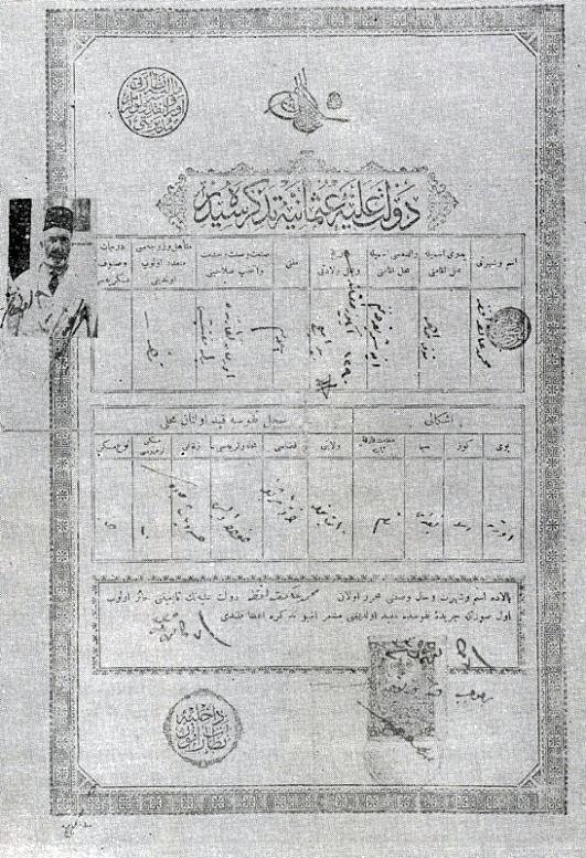 Mehmet Akif'in Nüfus Kaydı