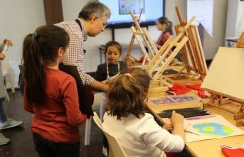 Ressam Cemal Toy ile Çocuklar için Resim Atölyesi