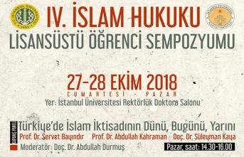IV. İslam Hukuku Lisansüstü öğrenci sempozyumu