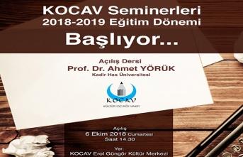 KOCAV Seminerleri  başlıyor