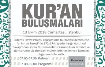 Kur'an Buluşmaları programı devam ediyor