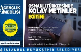 Osmanlı Türkçesinde Kolay Metinler Eğitimi yeni dönem kayıtları başladı