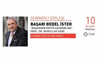"""Prof. Dr. Nurullah Genç ile """"Başarı Bedel İster"""" söyleşisi"""