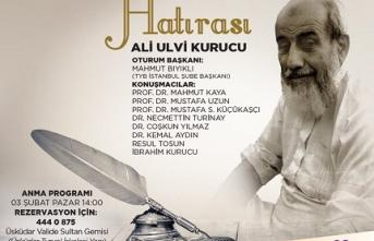 Ali Ulvi Kurucu'yu anma programı