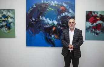 Ekrem Kutlu'nun kişisel resim sergisi açıldı