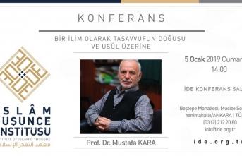 İDE Akademi'de Mustafa Kara konferansı