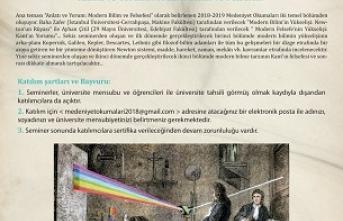 """İhsan Fazlıoğlu yönetiminde """"Medeniyet Okumaları"""" başlıyor"""