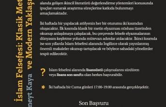 İslam Felsefesi: Klasik Metinler ve Modern Yaklaşımlar atölyesi başlıyor