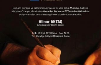 Muradiye Kur'an ve El Yazmaları Müzesi yarın açılıyor
