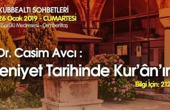 Prof. Dr. Casim Avcı Kubbealtı Sohbetlerinde