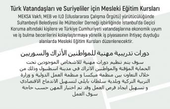 Türk Vatandaşları ve Suriyeliler için Mesleki Eğitim Kursları