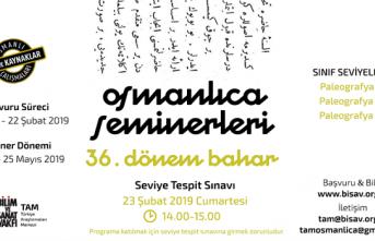 Bilim ve Sanat Vakfı Osmanlıca Seminerleri 36. dönem dersleri başlıyor