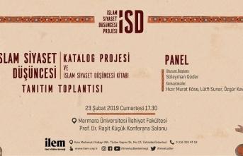 """""""İslam Siyaset Düşüncesi Katalog Projesi ve İslam Siyaset Düşüncesi Kitabı Tanıtım Toplantısı"""""""