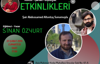 Kayapa kültür edebiyat söyleşilerinin bu haftaki konuğu Sinan Özyurt