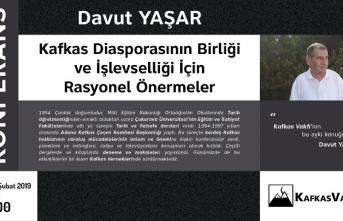 """Konferans: """"Kafkas Diasporasının Birliği ve İşlevselliği İçin Rasyonel Önermeler"""""""