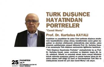 Türk Düşünce Hayatından Portreler: Cemil Meriç