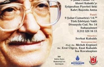 Türk Edebiyatı Vakfı'nda Ahmet Kabaklı'yı anma toplantısı