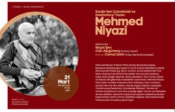 """Anma programı: """"Kanije'den Çanakkale'ye  Destanların Yazarı Mehmed Niyazi"""""""