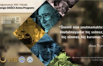 Cengiz Dağcı'yı anma programı