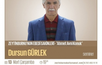 """Dursun Gürlek ile """"Zeytinburnu'nun Ebedî Sakinleri"""" semineri"""