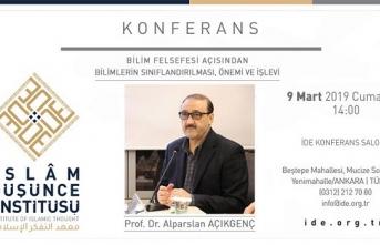 İDE Akademi Prof. Dr. Alparslan Açıkgenç'i ağırlıyor