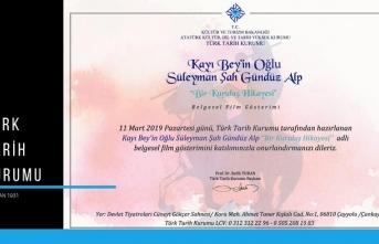 """""""Kayı Bey'in Oğlu Süleyman Şah Gündüz Alp Bir Kuruluş Hikayesi"""" belgeseli"""