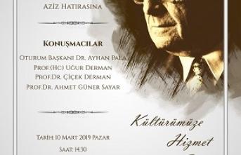 """""""Kültürümüze Hizmet Edenler"""" ödül töreni ve paneli"""