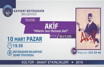 'Milletin Sesi Mehmet Akif'  oyunuyla başka bir Akif