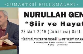 """Prof. Dr. Nurullah Genç ile """"Şiir ve Hayat"""" üzerine sohbet"""