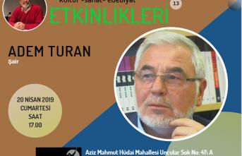 Kayapa Söyleşilerinin konuğu Adem Turan